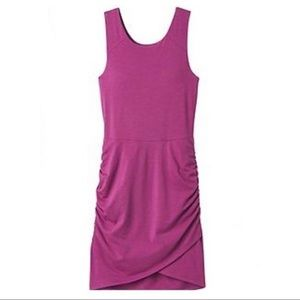 Athleta Seeker Tank Dress Ruched Purple